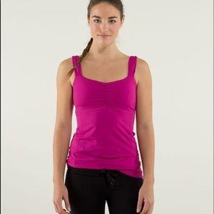 Lululemon Aria Tank Top Pink  Size 2 GUC